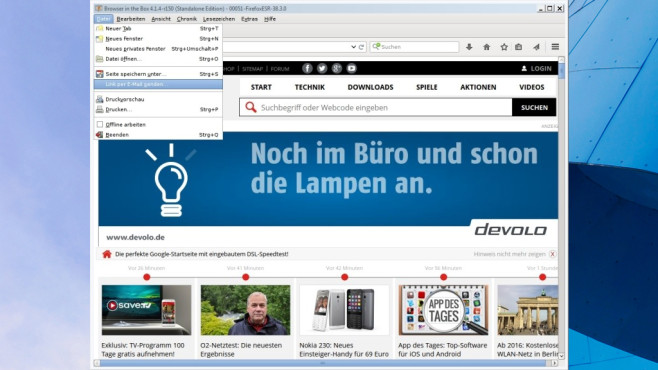 BitBox (Browser in the Box): Surfen im Gastmodus © COMPUTER BILD
