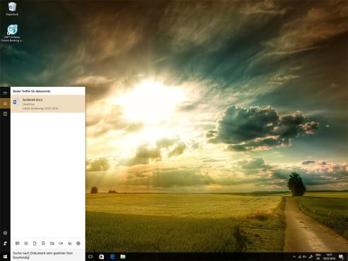 Die neue Cortana durchsucht auch OneDrive ©COMPUTER BILD