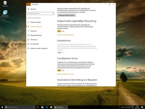 Neue Sicherheitsfunktionen: Windows Defender schützt mit ©COMPUTER BILD