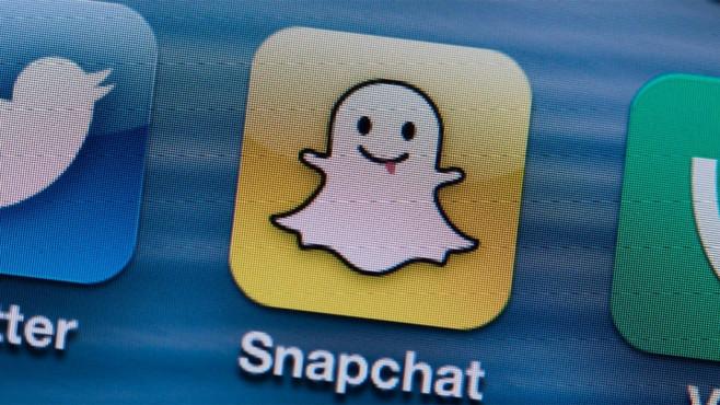 Snapchat Messenger-App ©Jens Büttner/dpa