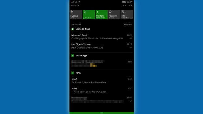 Windows 10 Mobile Beta: Das kann Anniversary-Build 14322 © COMPUTER BILD