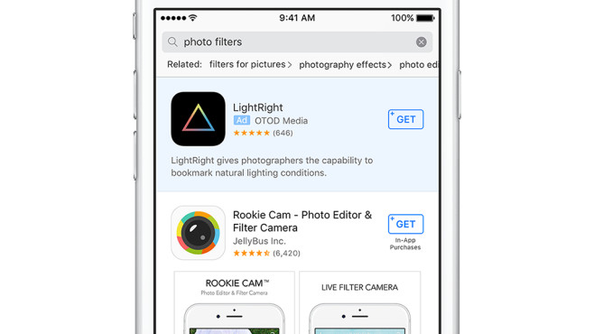 Werbung im App Store ©Apple
