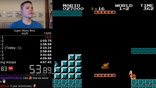 Super Mario Bros.: Speedrun © Nintendo / Darbian / YouTube.com