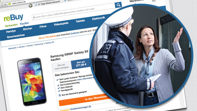 Hehlerware in Online-Shops ©reBuy, Polizei-beratung.de