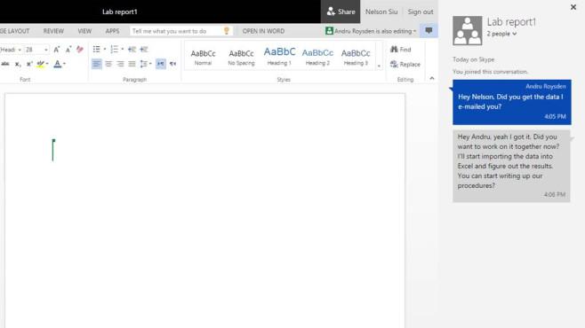 Word und Powerpoint bekommen Chat-Funktionen. ©Microsoft