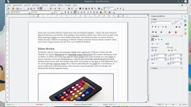 Platz 15: OpenOffice ©COMPUTER BILD