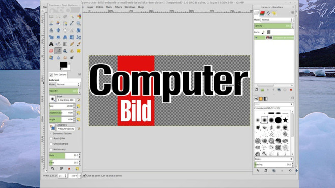 Platz 19: GIMP ©COMPUTER BILD
