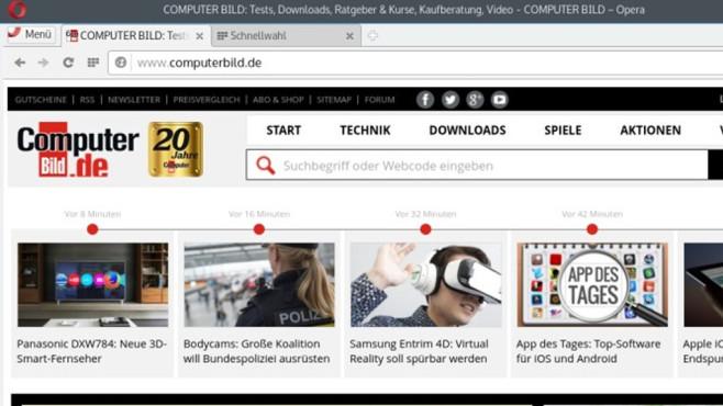 Platz 8: Opera ©COMPUTER BILD