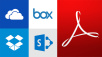 Document Cloud ©Adobe, Dropbox, Microsoft, box