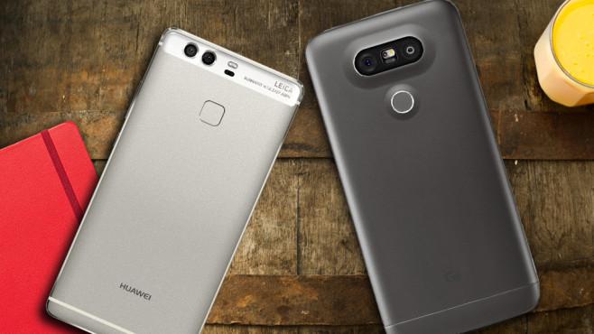 LG G5 gegen Huawei P9 ©LG Electronics, Huawei, kishivan – Fotolia.com