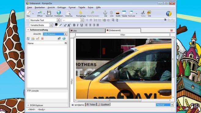 KompoZer: Simple Kreativ-Webseite bauen ©COMPUTER BILD