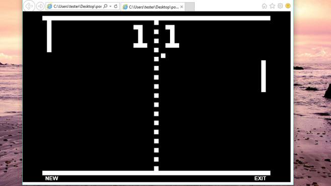 Pong: Schnell gesckickt sein ©COMPUTER BILD