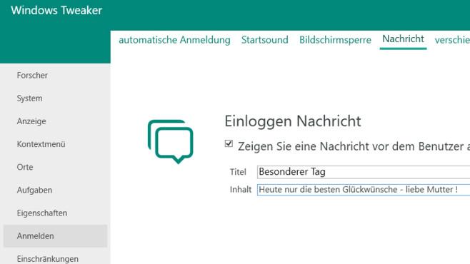 Windows Tweaker: Beim Systemstart überraschen ©COMPUTER BILD
