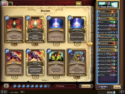 Hearthstone – Standard: Top-Decks © Blizzard