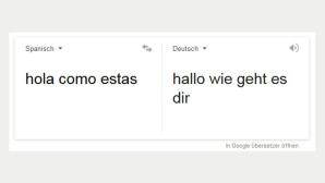 Automatische Google-�bersetzung ©Screenshot Google