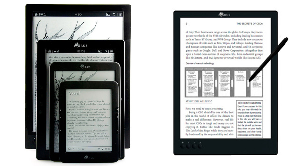icarus a4 ebook reader mit 13 zoll computer bild. Black Bedroom Furniture Sets. Home Design Ideas