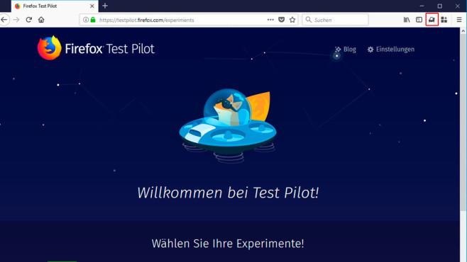 Firefox Test Pilot ©Mozilla, COMPUTER BILD