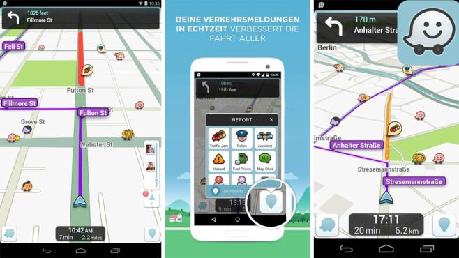 Waze soziales GPS und Verkehr ©Waze Inc.