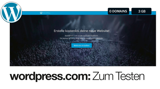 wordpress.com: Zum Testen © wordpress.com
