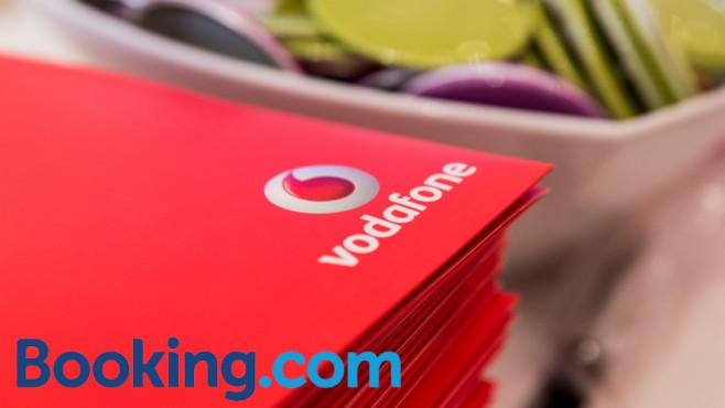 Vodafone und Booking.com ©Vodafone/Booking.com