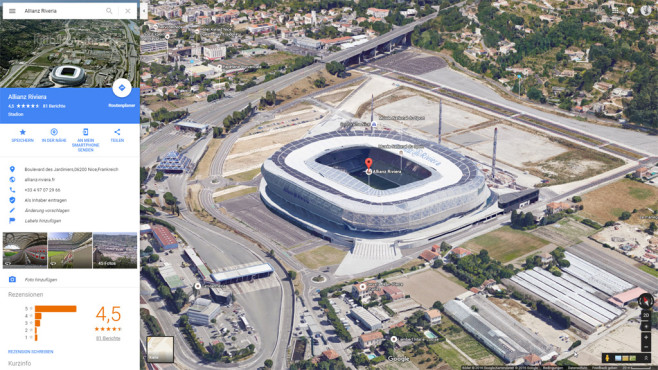 Allianz Riviera © Google