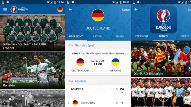 Offizielle UEFA EURO 2016 App ©UEFA