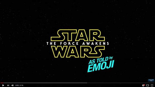 Star Wars Emojis ©Screenshot: https://www.youtube.com/watch?v=adgnlbRWo_Y