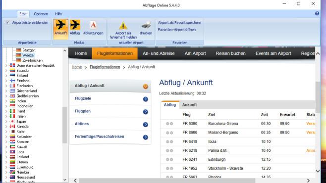 Abflüge Online: Flugzeiten sichten ©COMPUTER BILD