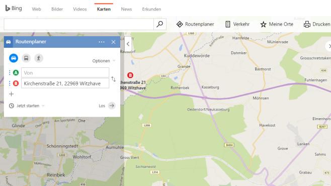 Bing Karten: Leistungsstarker Google-Konkurrenz ©COMPUTER BILD