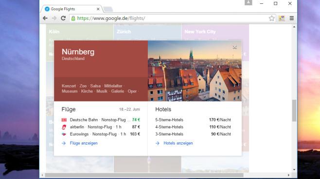 Google Flights: Günstige Flüge finden ©COMPUTER BILD