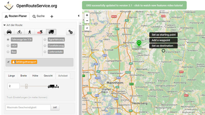 OpenRouteService: Routenplaner selbst für Rollstuhlfahrer ©COMPUTER BILD