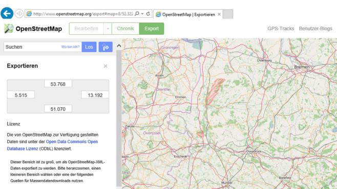 OpenStreetMap: Freies Kartenmaterial für jeden ©COMPUTER BILD