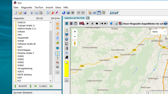 Tyre: Google-Karten aufs Navi bringen ©COMPUTER BILD