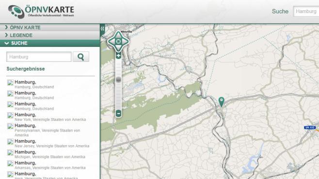 ÖPNV Karte: Öffentliche Verkehrsmittel weltweit anzeigen ©COMPUTER BILD