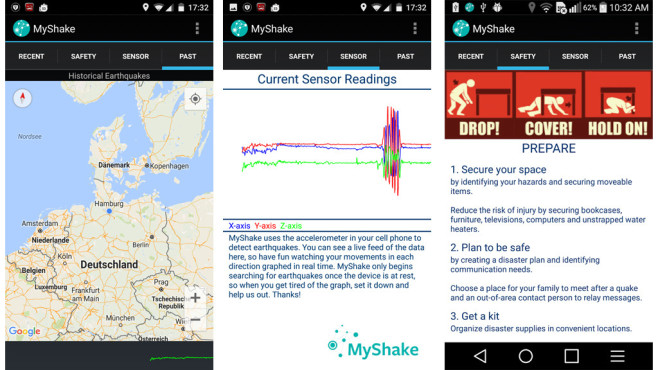 MyShake © UC Berkeley Seismological Laboratory