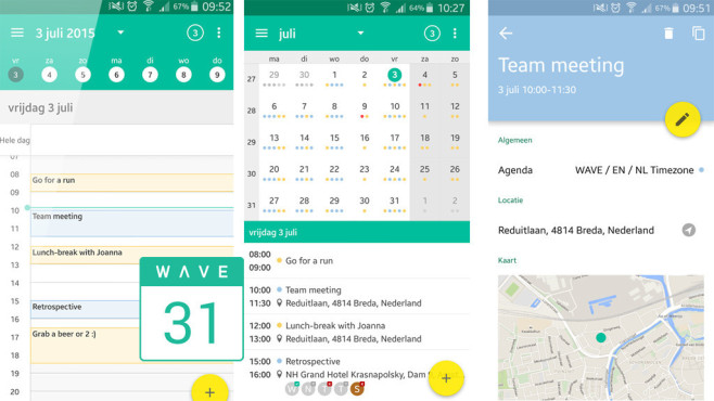 Wave Kalender ©e-sites