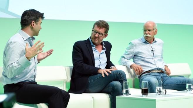 Dieter Zetsche und Travis Kalanick ©dpa-Bildfunk
