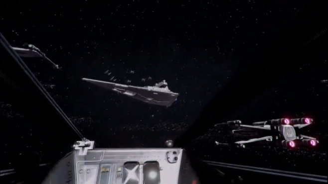 Star Wars Battlefront X-Wing VR mission © Sony
