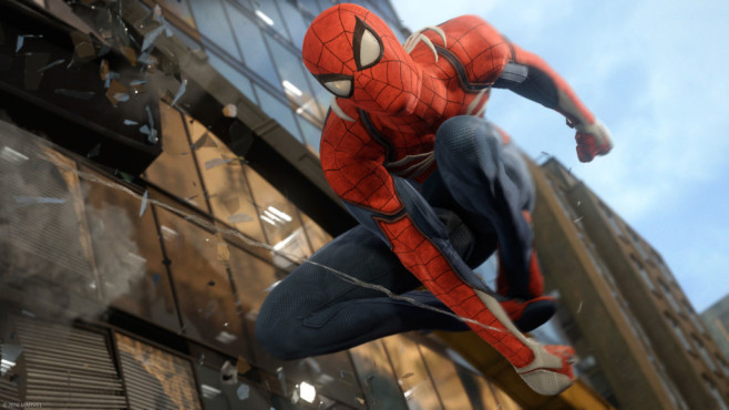"""Spider-Man: Ich glaub' ich spinne! In der E3-Präsentation überzeugte """"Spider-Man"""" mit filmreifer Geschichte und Optik. ©Sony/Insomniac Games"""