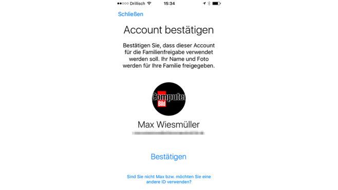 So richten Sie die Familienfreigabe ein ©COMPUTER BILD, Apple