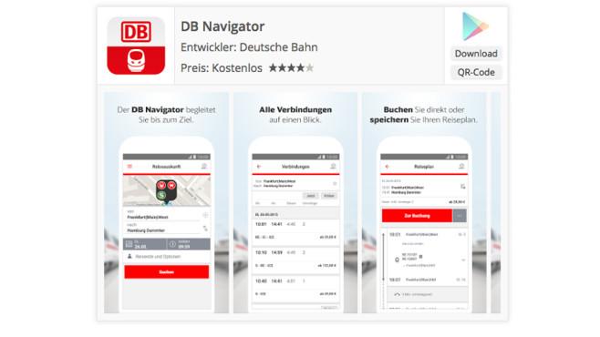 DB Navigator Android ©Deutsche Bahn