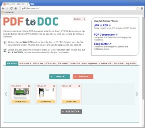 PDF to DOC (PDF in Word umwandeln)