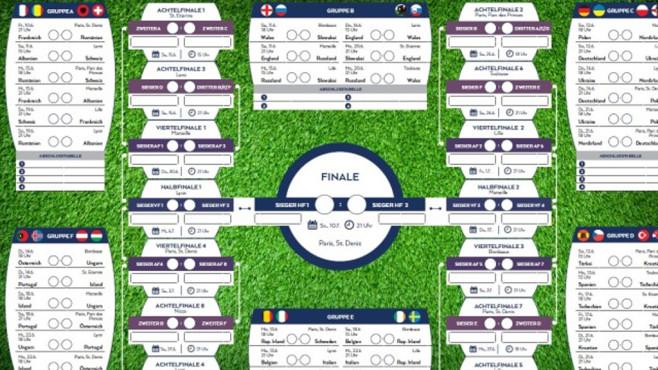 Platz 27: EM 2016: Spielplan als PDF zum Ausdrucken (neu) ©COMPUTER BILD