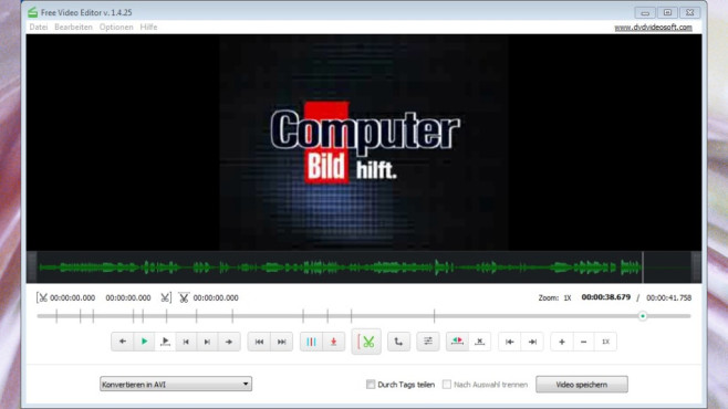 Platz 47: Free Video Editor (neu) ©COMPUTER BILD