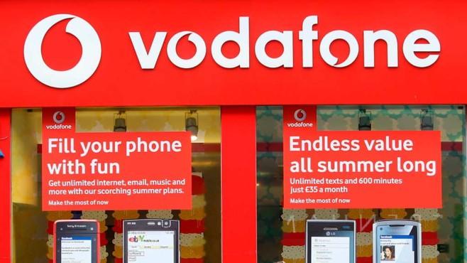 Vodafone-Shop in Großbritannien ©dpa-Bildfunk