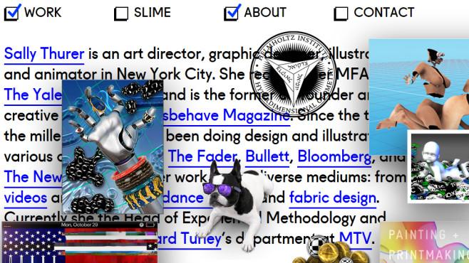 brutalistwebsites: Die 13 hässlichsten Webseiten ©http://sallythurer.com