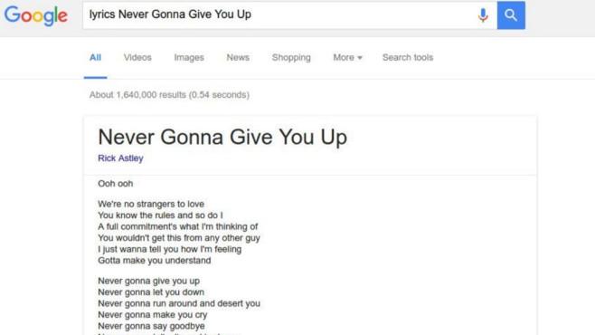Google Lyricfinder ©Google