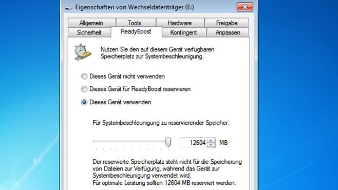 Arbeitsspeicher per USB-Stick aufstocken ©COMPUTER BILD