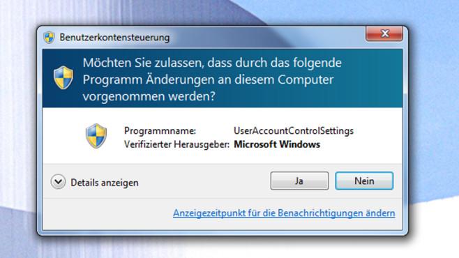 Warnungen der Benutzerkonten-Steuerung bändigen ©COMPUTER BILD