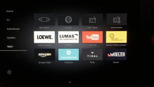 Loewe Bild 7: Rundum sehenswert! Die Auswahl an großen Streaming-Videotheken ist bei Loewe mit Maxdome und Amazon ok, Netflix fehlt allerdings. ©COMPUTER BILD